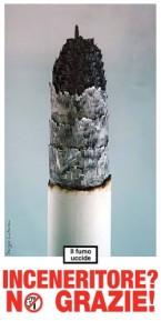 inceneritore no grazie sigaretta