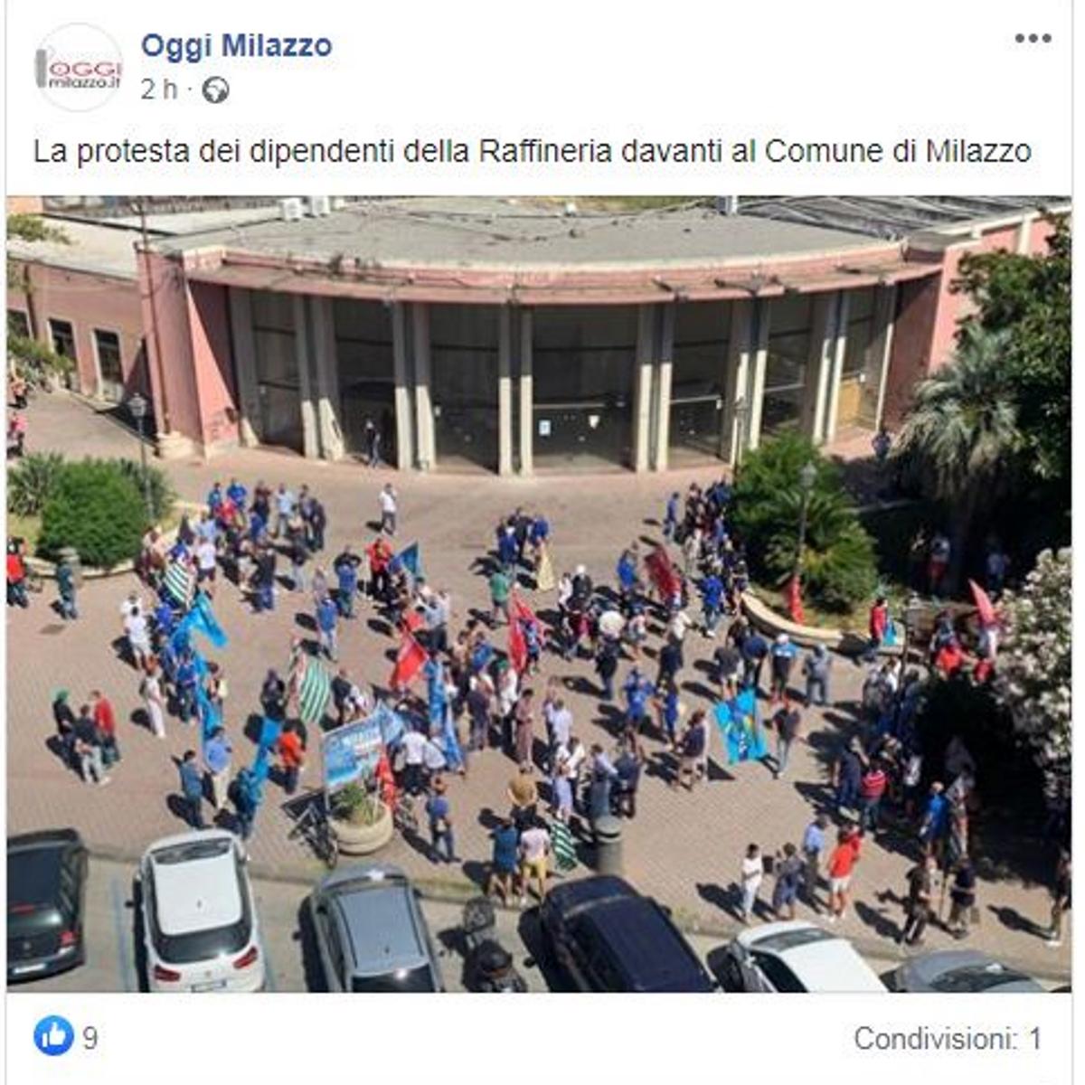 screenshot oggimilazzo foto manifestazione ram ritagliata